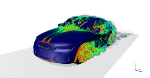 Evaluation of drag and lift on a Sedan with Simulation